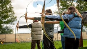 Archery safety for beginners.