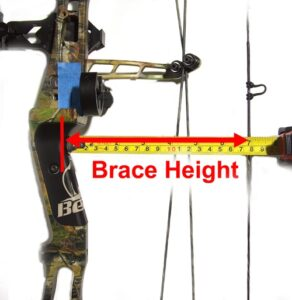 Measuring brace height on bow