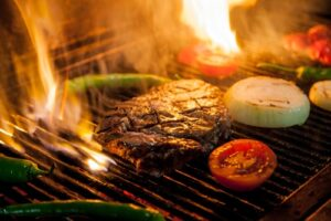 Camping ideas for steak.