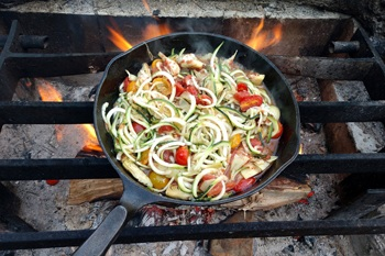 Camping meal ideas. Campfire.