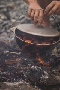 Dutch oven, camping meals.