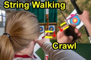 String walking, archery aiming technique