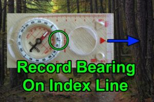 Compass. Record bearing on index line.