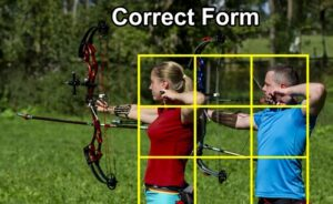 Compound bow correct stance.