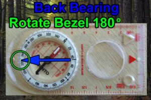How to use a compass with a bachbearing.