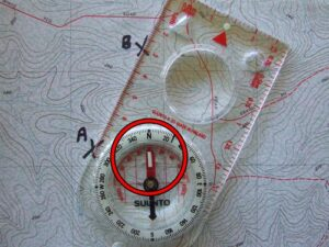 How to use a compass and map.