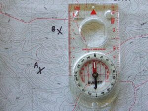 Use map and compass.