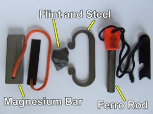 The difference between a ferro rod and flint and steel.