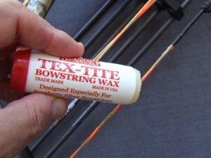 How do you wax a bowstring?
