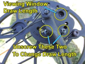How to change draw length on Bear compound bow
