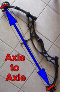 Long axle to acle bow