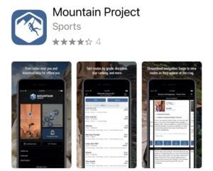 Mountain Project rock climbing app