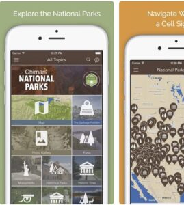 National Parks app by Chimani