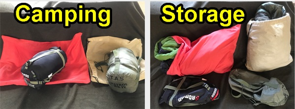 How to store sleeping bag.