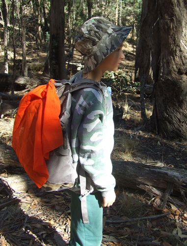 Bushcraft, using a bandana for signalling