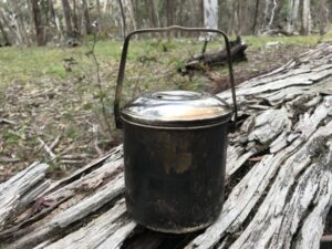 Bushcraft and survival use for billy pot