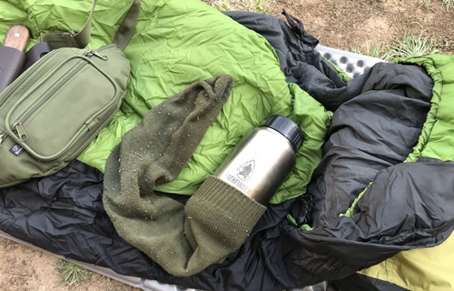 Bushcraft tips. Het up steel water bottle.
