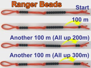 How to use pace counting beads.