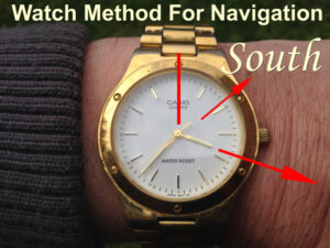How to use a watch as a compass.