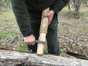Mora Garberg field test. Carving baton.