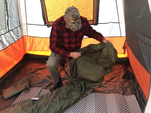 Sleeping bag tips