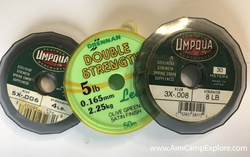 Tippet fishing line material