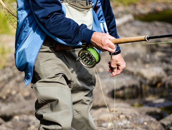 Types of fishing waders.
