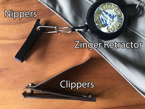 Fishing nippers and retractor